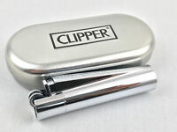 Clipper Metall Chrome Poliert Feuerzeug Box (ovp) Edel Design