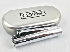Clipper Metall Chrome Poliert Feuerzeug Box (ovp) Edel Design