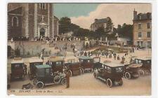 Sortie de Messe Cars Voiture Dinard France 1910s postcard