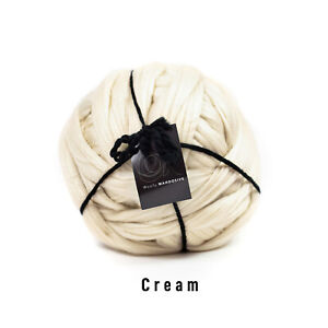 4kg Cream Mammoth® Thick Super Chunky Extreme Arm Knitting Acrylic Giant