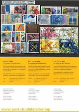 Suiza. Serie Anual completa año 2001 [R9050]. Switzerland. Full Annual Series