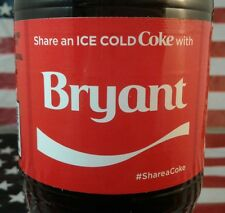 Share A Coke With Bryant Limited Edition Coca Cola Bottle 2017 USA