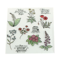 Transparent Clear Silicone Stamp flower Pattern for DIY Scrapbook Card Making_ti