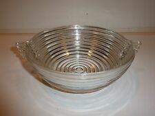 Vintage Hocking Manhattan Clear Depression Glass Serve Bowl, Closed Handles