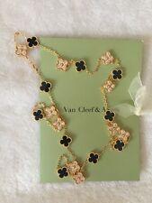 ****+++Van +Cleef & Arpels+- Onyx +20 motif necklace + Yellow gold x Onyx Black
