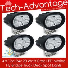 4 X 12V/24V 20W COMPACT BLACK FLOOD BOAT/FLYBRIDGE/FISHING LED SPOT WORK LIGHT