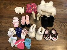 Lot 15 Baby Girl Shoes Infant Boots Socks Hat Mittens Sneakers Carter's Baby Gap