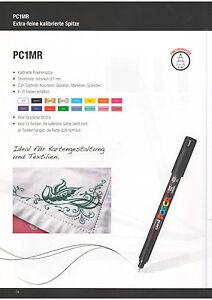 Farbmarker, POSCA PC-1MR, Extra Fein für Kartengestaltung, Schreiben, Zeichnen