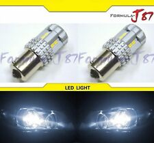 LED Light 6W 1156 White 5000K Two Bulbs Rear Turn Signal Replacement Lamp JDM