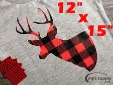 "12"" x 15"" Buffalo Plaid/Lumberjack HTV (Heat Tranfer Vinyl) for T Shirt Crafts"