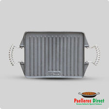 Rectangular Cast Iron Griddle Plate / Skillet / BBQ - 27cm x 21cm