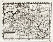 Original antique map of Poland from 1754 by Claude Buffier