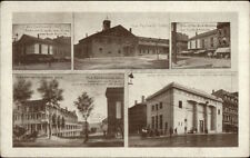 Worcester MA Multi-View Foster St. Depot & Others c1910 Postcard