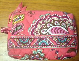 Vera Bradley Call Me Coral Small Cosmetic Bag - Plastic Lined