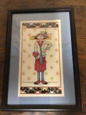 Beautiful Mary Fngelbreit Custom Framed Counted Cross Stitch 9x13