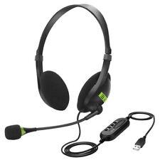 1x USB Headset PC Kopfhörer Computer Laptop Business Headphone mit Mikrofon Mode