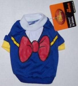 NWT Disney Pet Costume DONALD DUCK Dog clothes shirt Halloween XS S M L