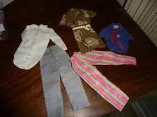 #83E vtg MIXED LOT  5  Barbie ? KEN OUTFITS  clothes all with TAGS  labels