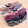 Vintage Dot Striped Bow Headband Girls Hair Band Bowknot Rabbit Bunny Ears Wired