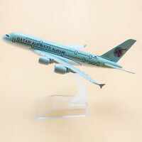 Airplane Model Plane Air Qatar Airways Airbus 380 A380 16cm Aircraft Model Metal