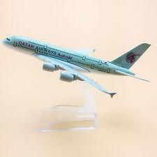 16cm Airplane Model Plane Air Qatar Airways Airbus 380 A380 Aircraft Model Toy