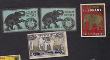 Ensemble  étiquette  allumettes Inde BN122846 Eléphant