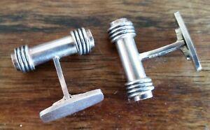 Georg Jensen designer Andreas Mikkelsen vintage sterling silver cufflinks 25.5 g