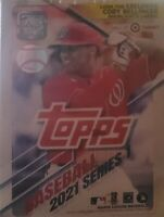 2021 Topps Series 1 Blaster Box -New Factory Sealed - 7 packs + Patch - RC's