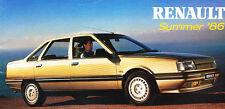 1986 Renault Original Sales Brochure - 9 11 5 21 Espace 25 Alpine GTA Trafic Van