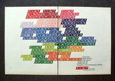 N537 - Advertising Pubblicità - 1968 - FIAT , 5500 CENTRI ASSISTENZA IN ITALIA