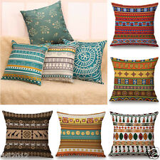 Bohemia Print Sofa Bed Home Decoration Linen Boho Pillow Case Cushion Cover Skin