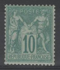 "FRANCE STAMP TIMBRE 65 "" SAGE 10c VERT TYPE I 1876 "" NEUF xx TTB SIGNE  P472"