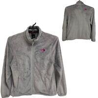 The North Face women's Osito fleece jacket gray full zip size L/G (D-3J)