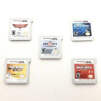 Lot Of 5 Nintendo 3DS Games Angry Birds,Planes, Cut The Rope, Steel Diver + More