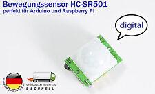 Bewegungsmelder Motion Sensor PIR HC-SR501 f Arduino Raspberry PI mit Beispiel