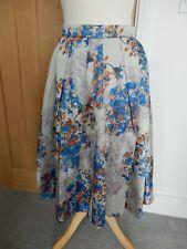 L K Bennett midi skirt Kenton silver/blue/orange size 10 good condition