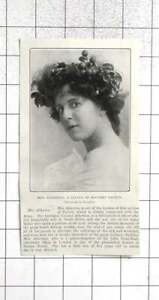 1904 Mrs Atherton A Leader Of Military Society
