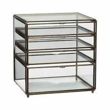 Metal and Glass Display Jewellery Trifle Box w/Drawers by Hubsch