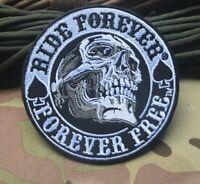 Ride Forever Skull Patch Aufnäher Aufbügler Biker Chopper Motorrad Rocker Harley