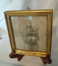 Rare - Raphael- Madonna G.B. Florence-Made in Italy -Etching -Vtg/Antique Print