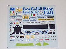 1/43 Tecnomodel decals sheet for Ferrari F430 Easy Call.it 2009 LMS      #149