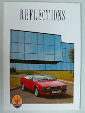 Prospekt - Maserati UK: 222 SE, Spyder, Karif, 430, 228, ca.1990, 4 S.. englisch