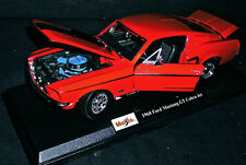 1968 FORD MUSTANG GT COBRA JET 429 BIG BLOCK 4 SPEED 1/18 DIE CAST METAL CAR NEW