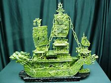 "FACTORY SALE: 24"" GREEN JADE DRAGON BOAT (BJ60D) - HIGH QUALITY"