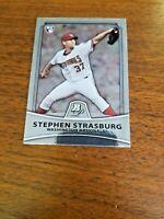 STEPHEN STRASBURG 2010 BOWMAN PLATINUM CARD #1 WASHINGTON NATIONALS (ROOKIE)