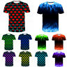 Stylish Men'S Funny Skull 3D Print T-Shirt Casual Fashion Short Sleeve Tops Tee