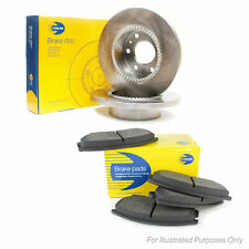 Fits Subaru Forester SG Genuine Comline 5 Stud Rear Solid Brake Disc & Pad Kit