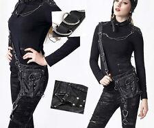 Sac pochette gothique punk lolita steampunk cuir jarretière bandoulière Punkrave