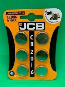 6 X JCB CR2016 3V LITHIUM BUTTON COIN CELL BATTERY DL2016 BR2016
