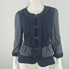Daughters of the Liberation Anthropologie Splicing Denim Jacket Size 6 WC14